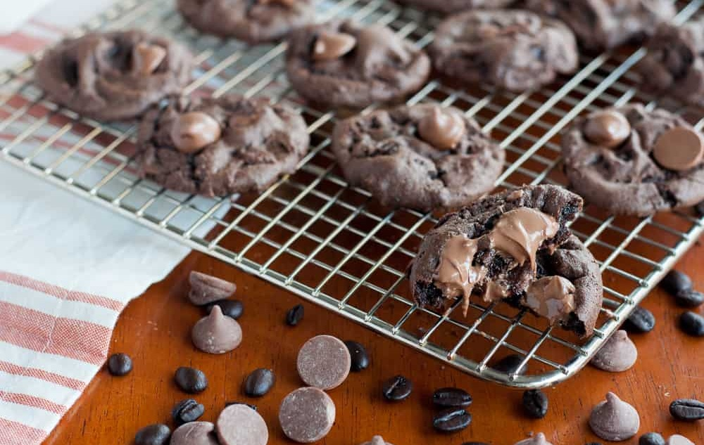 Gluten Free Mocha Chocolate Chip Cookies